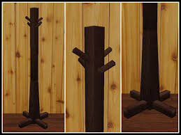 Western Coat Rack Second Life Marketplace RE Wood Coat Rack One Prim WesternOld 18