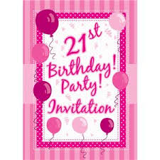 21st birthday invitation cards perfectly pink small