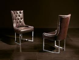 chairs side itaca brown leather
