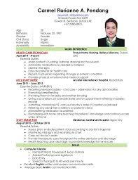 Ideas Of Filipino Resume Sample 9 Resume Sample Format Philippines