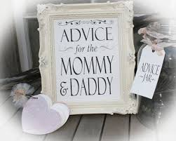 New Parent Advice  EtsyBaby Shower Advice Ideas