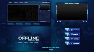 Twitch Stream Design Free Twitch Stream Overlay Template 2018 5 On Behance