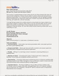 Personal Skills In Resume Examples Free Resume Examples