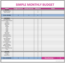 Child Care Budget Template Simple Monthly Budget Template Asian Food Near Me