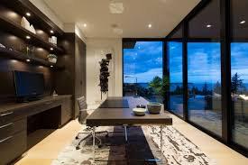 office in house. home office in elegant modern house west vancouver canada
