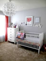 lighting for nursery room. Coral And Gray Nursery With Ikea Pendant Light - Project Lighting For Room E