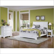 Home Styles Naples King 3 Piece Bedroom Set in White
