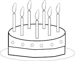 Disegno Di Torta Buon Compleanno Da Colorare Per Bambini Con Scritte