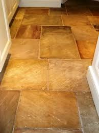 sandstone floor tiles. Sandstone Floor After Cleaning And Sealing Tiles O
