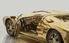 25 Karat Auto Design 18 Karat Gold Ford Gt Model Up For Auction