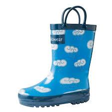 Oakiwear Rain Boots Size Chart Oakiwear Kids Rain Boots For Boys Girls Toddlers Children Clouds