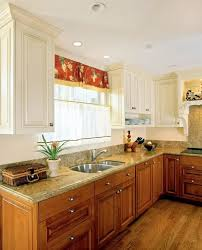 Painting Cherry Kitchen Cabinets White Upper With Wood And Decorating