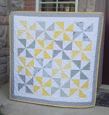 Best 25+ Pinwheel quilt ideas on Pinterest | Pinwheel quilt ... & 40 x 40 I finished this simple baby quilt this week. Yellow and Gray is Adamdwight.com