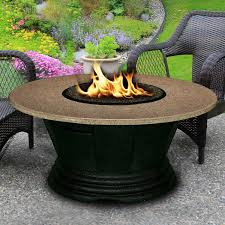 propane fire pit table round
