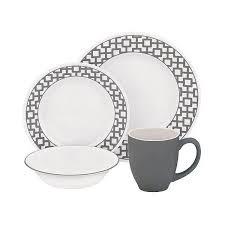 corelle dinner set ebay australia. corelle® impressions™ vitrelle and dinnerware set urban grid gray white corelle dinner ebay australia a