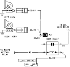wiring car horn diagram wiring wiring diagrams chrysler lebaron 1990 horn system wiring diagram
