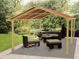 Easy Patio Decorating Patio Decor Yellow Outdoor Umbrella With Wooden Patio Loungers