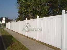 Vinyl solid picket fence Gate The Oklahoma Style Is The Most Affordable And Commonly Sold Vinyl Fence Section For Its Diverse Applications And Maximum Privacy Interstate Visions Vinyl Oklahoma Solid Interstate Visions