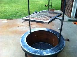 fire pit with cooking grill grate uk