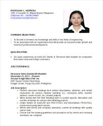 Sample Resume Pdf Interesting Autocad Resume Template 28 Free Word PDF Document Downloads