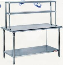 assembling stainless steel work table with overshelves cz120ts