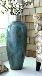huge vase blue glass floor vase for nook by stairs large