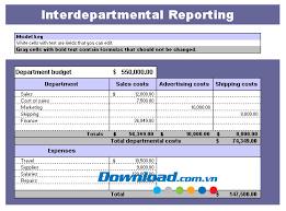 Template Reporting Departmental Budget - Departmental Budget Report