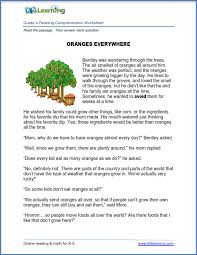 New Reading Comprehension Worksheets for Grades 4 and 5