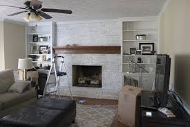 image of painting brick fireplace grey