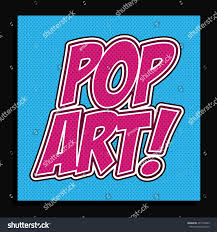 Arti Art Design Pop Art Design Over Blue Background Stock Vector Royalty
