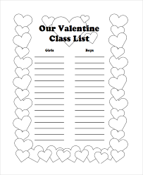 8+ Class List Templates | Sample Templates