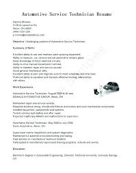 Resume For Auto Mechanic Automotive Technician Resume Template S