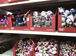 The Christmas Decorations at Walmart