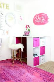 love home office space. malloryu0027s girly office makeover love home space