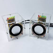 diy mini amplifier speaker kit transpa speaker 1