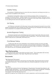 test plan testing plan template printable software engineering test plan