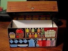 Decorative Recipe Box WONDERFUL VINTAGE HALLMARK COLORFUL METAL DECORATIVE RECIPE BOX 75