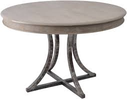 round wood table with metal base metal round dining table modern home design amusing base for