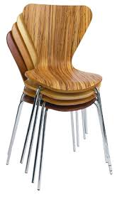 modern stacking chairs.  Modern Ultra Modern Veener Wood  Stacking Chairs Commercial Grade And T