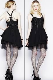 Iva Black Savil Gothic Dress by Hell Bunny   Ladies Gothic