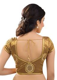 Image result for images of wedding blouses in gold colour