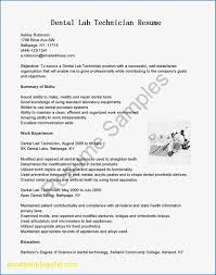 Dental Lab Technician Resumes 13 Vet Tech Resume Summary Examples Resume Collection