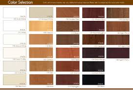 color chart natural wood blinds