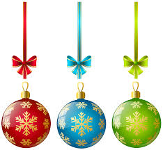 Christmas Ball Ornaments Clipart #1