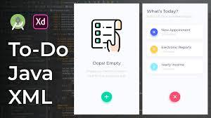 Android Studio Ui Designer Tutorial Todo Ui Design Animation Adobe Xd To Android Studio Tutorial