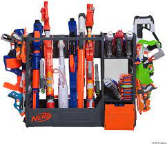 The boys (and haley) love this new space so much! Amazon Com Nerf Elite Blaster Rack Toys Games