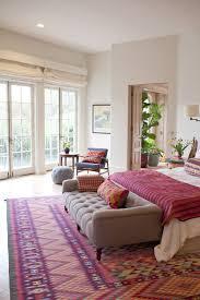Bold monochromatic bedroom
