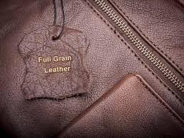 also no corrective processes have been performed on full grain leather to
