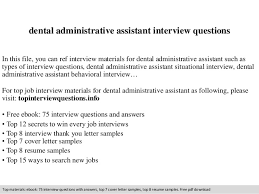 Questions To Ask A Dental Assistant Dental Interview Questions Magdalene Project Org