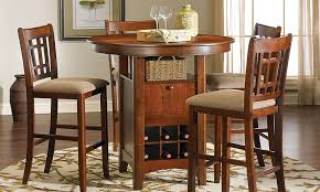 picture of mission oak bar pub height dining set